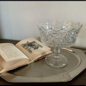 Vintage Glass Deep Dish